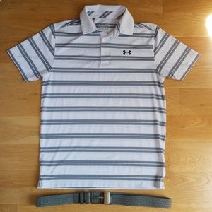 Under armour golf polo and belt combo